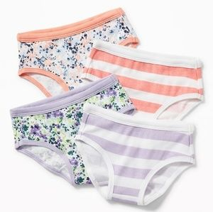 Old Navy Toddler Girls Floral Underwear 4 pk